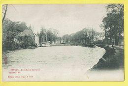* Brugge - Bruges (West Vlaanderen) * (Editeur Albert Sugg, Série 11, Nr 101) Porte Sainte Catherine, Quai, Bateau, Boat - Brugge