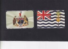 DIEGO GRCIA , DGA-R-37 & 38 , ISLAND FLAG & ISLAND CREST , MINT , CN's  00001 ( First Printing ) - Diego-Garcia