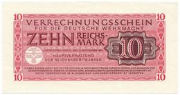 10 REICHSMARK VERRECHNUNGSSCHEIN FUR DEUTSCHE WERMACHT BERLIN 15/09/1944 SUP+ - [ 3] Emissioni Militari