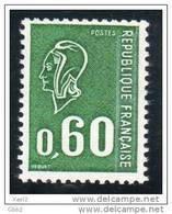 YT 1815 Marianne De Béquet, 60c Vert Taille Douce Provenant Du Carnet 1815-C 1 Gomme Brillante. Bas Prix Peu Proposé. - 1971-76 Marianna Di Béquet