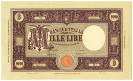 1000 LIRE BARBETTI GRANDE M TESTINA MODIFICATO FASCIO II TIPO 12/12/1942 SUP- - Regno D'Italia - Altri