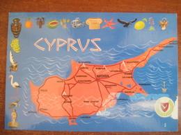Cyprus Map Of Cyprus MINT - Cyprus