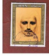 LIBANO (LEBANON) -  SG 1290 - 1983 / 100^ ANNIV. PAINTER GIBRAN: THE PROPHET          - USED ° - Libano