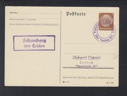 Dt. Reich PK Poststelle Schumbarg über Tetschen - Briefe U. Dokumente