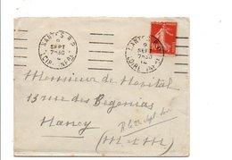OBLITERATION MECANIQUE DE NANTES 1914 - Marcophilie (Lettres)