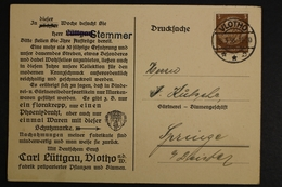 Vlotho, Fabrik Präparierter Pflanzen, Vertreter-Ankündigung, 1938 - Deutschland