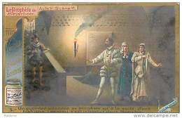 H4 PROPHETE MAYERBEER MUNSTER JUDAICA CHRISTIANISME DORURES 1880 LIEBIG 11x7 Cm - Liebig