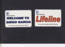 DIEGO GRCIA , DGA-R-61 & 62 , LIFELINE & WELCOME , MINT , CN's  00004 - Diego-Garcia