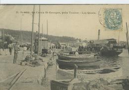 Saint-Mandrier- Creux Saint-Georges- Les Quais ***Magnifique Cpa De 1905 Pas Courante *** Ed.M.B N° 250 - Saint-Mandrier-sur-Mer