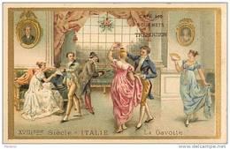 H4   RECEPTION ITALIE  XVIII Eme Siécle  La  GAVOTTE ..ROMAIN   10,5 X 6,5  Café TREBUCIEN - Tea & Coffee Manufacturers