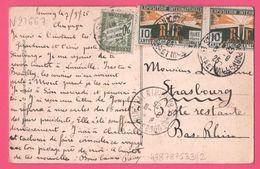 2x Exposition Internationale Arts Décoratifs Modernes Paris 1925 Taxée 20 Cts - Bayon - Cimetière Militaire - Edit. CLB - France
