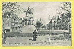 * Liège - Luik (La Wallonie) * Perspective Du Boulevard Piercot Et Statue Charlemagne, Parc, Cheval, Old - Liege