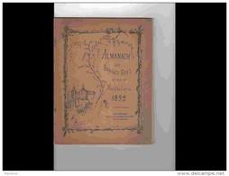 .AGD1  Rare ALMANACH  1892  .DES BRAVES GENS De MONTBELIARD PATOIS  CHANSONS Ephémérides  Dessins De RESENER .DOUBS - Formato Grande : ...-1900