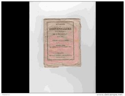 AGD1       209  ANNALES  CALENDRIER 1850 DE MONTPELLIER  Chez DUMAS Cristin Rue Du Palais  12 X 15,5 Rare Régionalisme L - Calendriers