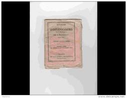 AGD1       209  ANNALES  CALENDRIER 1850 DE MONTPELLIER  Chez DUMAS Cristin Rue Du Palais  12 X 15,5 Rare Régionalisme L - Calendari