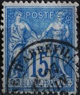 -Sage N°90 Type Ll O (.CAD) GARE D'ABBEVILLE ( 76 ) - 1876-1898 Sage (Type II)