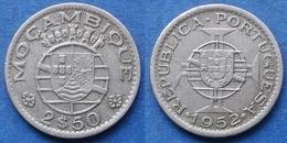 MOZAMBIQUE - 2-1/2 Escudos 1952 KM# 78 Portuguese Colony - Edelweiss Coins - Mozambique