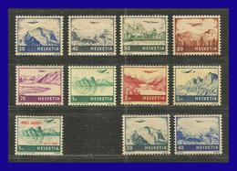 1941 - 1948 - Suiza - Scott Nº C 27 / C 34 + C 35 + C 43 / C 44 - MLH - SU- 712 - 03 - Unused Stamps