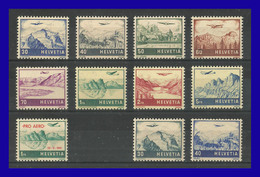 1941 - 1948 - Suiza - Scott Nº C 27 / C 34 + C 35 + C 43 / C 44 - MNH - SU- 712 - 00 - Unused Stamps