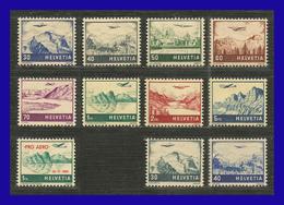 1941 - 1948 - Suiza - Scott Nº C 27 / C 34 + C 35 + C 43 / C 44 - MNH - SU- 712 - 02 - Unused Stamps