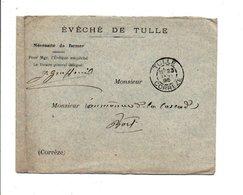 LETTRE EN FRANCHISE DE L'EVECHE DE TULLE CORREZE 1895 - Marcofilia (sobres)
