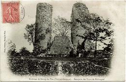 CPA Bourg-de-Visa (environs) 82. Remparts (ruines) Des Tours De Moissaguel, 1905 - Bourg De Visa