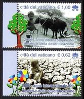 Vatican 1413/14 Désertification, Climat, Vache, Eau, Arbre, Pomme - Milieubescherming & Klimaat