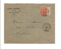 MOUCHON SUR LETTRE A EN TETE DE AIGUES MORTES GARD 1902 - Marcofilia (sobres)