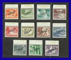 1950 - Suiza - Scott Nº O37 / O47 - MNH - SU- 55 - Switzerland