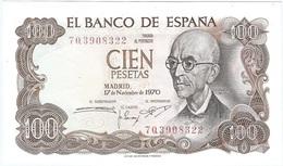 España - Spain 100 Pesetas 17-11-1970 Pk 152 A.3 Ref 704-2 - [ 3] 1936-1975 : Régimen De Franco