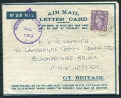 1942 GB Fieldpost 550, Airletter, HQ No 2 Squadron, Cheshire Yeomanry M.E.F. - Lancashire Cotton Corp. Manchester.Censor - 1902-1951 (Rois)