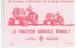 Buvard Le Tracteur à Tout Faire De La Ferme Française: LE TRACTEUR AGRICOLE RENAULT Voie Variable Relevage Hydraulique - Agriculture