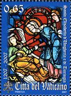 Vatican 1445 Vitrail, Sainte Elizabeth De Hungaria, Basilique Gothique De Malburg Germany - Vetri & Vetrate