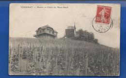 VERZENAY    Moulin Et Chalet Du Mont-Boeuf  écrite En 1909 - Autres Communes