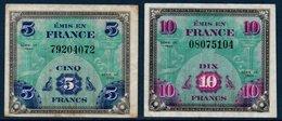 """FR Billets """"Drapeau"""" De 5Fr Et 10 Fr. Série De 1944. Bon état - Tesoro"""