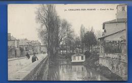 CHALONS-SUR-MARNE    Canal De Nau   Animées - Châlons-sur-Marne
