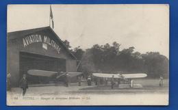 VITTEL    Hangar  Et Aéroplane Militaire   Animées    écrite En 1916 - Autres Communes