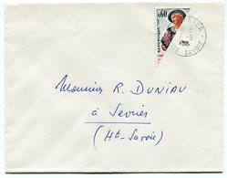 RC 14800 FRANCE N° 1449 COUPÉ SUR LETTRE DE SEVRIER HAUTE SAVOIE TB - 1961-....