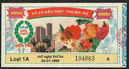 VIETNAM 2000 DONG 1999 BEN TRE      AU-UNC. - Lottery Tickets