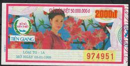 VIETNAM 2000 DONG 1999 TIEN GIANG      AU 2 P.h. - Lotterielose