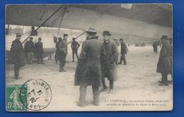 LUNEVILLE    Zeppelin  Le Capitaine Gluntz Pilote Surveille Les Préparatifs Du Départ    Animées     écrite En 1913 - Luneville
