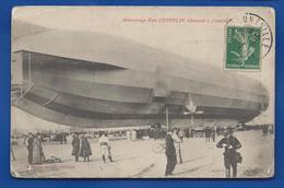 LUNEVILLE   Attérrissage D'un Zeppelin Allemand       Animées     écrite En 1913 - Luneville