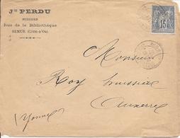 COTE-D'OR  SAGE  Sur  ENV OBLI  SEMUR EN AUXOIS - Marcophilie (Lettres)