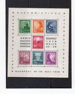 Hongrie BF N° 2. Budapest. Eucharisticus Congresszus 25 29 Mai 1938. Neuf Avec Gomme. (2000t) - Blocchi & Foglietti