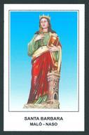 S. BARBARA V. E M. - Malò - Naso - M - PR  - Mm. 75 X 120 - Religion &  Esoterik
