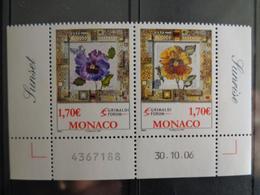 MONACO 2006  Y&T N° 2575 & 2576 ** - SUNRISE & SUNSET MOSAIQUES DE L'ARTISTE NALL - Monaco