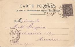 SEINE  SAGE  Sur CP  OBLI PARIS  R.FONTAINE Pour MUNCHEN - Marcophilie (Lettres)