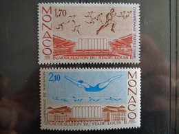 MONACO 1985 Y&T N° 1475 & 1476 ** - CHAMPIONNATS INTERN. D'ATHLETISME ET NATATION - Mónaco