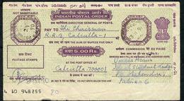 INDIA  POSTAL ORDER 5 RUPEES 1990 PATNA / CALCUTTA   AVF - India