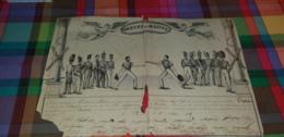RARE BREVET DE MAITRE DE BATON 1834 ABIME -ED2019 - Diplomas Y Calificaciones Escolares